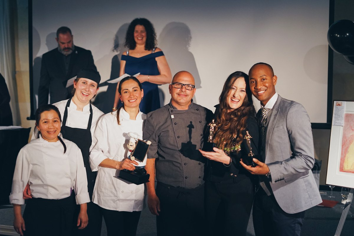 Another award at Celebrity Hors D'oeuvres 2018